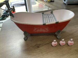 """Retro Freestanding Claw Feet Bath Suitable For Our Generation, American Girl 18"""""""