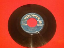 THE BEATLES ALL MY LOVING 1964 Italy 45 QMSP 16364 Rare Blue Label RECORD ONLY
