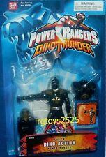 "Power Rangers Dino Thunder 5"" BLACK Dino Action Ranger New Factory Seal W Staff"