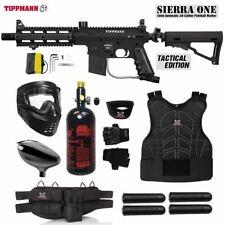 Maddog Tippmann Sierra One Starter Protective Hpa Paintball Gun Package - Black
