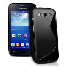 Pour Samsung Galaxy Ace 3 S7272 -Coque Gel Silicone S-LINE Noir  + 1 Film