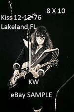 Kiss 1976 Ace Frehley 8 X 10 Photo 7 Lakeland,FL Shock Me Playing Cold Gin