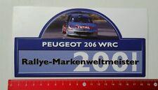 Aufkleber/Sticker: Peugeot 206 WRC - Rallye Markenweltmeister 2001 (290316209)