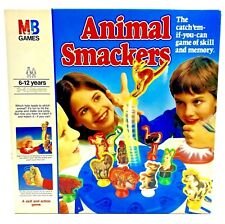 VINTAGE 1980s MB GAME ANIMAL SMACKERS GAME OF MEMORY AND SKILL COMPLETE