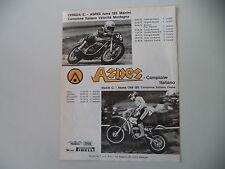 advertising Pubblicità 1976 MOTO ASPES JUMA 125/CRS 125 CON CORRADO MADDII