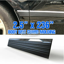 "Body Belt Molding Side Protector Factory Style Black Chrome 236"" For Suv Truck"
