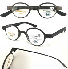 201881 Retro Stylish Reading Glasses/Small Vintage Round Lens/Flexible Arm Specs