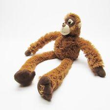 "FAO Schwarz Fluffly Brown Monkey Plush, Long Velcro Arms, 21"""