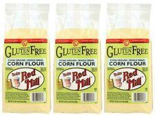 (Pack of 3) Bob's Red Mill Gluten Free Stone Ground Whole Grain Corn Flour 24 Oz