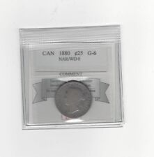 **1880 Nar/Wide 0**, Coin Mart Graded Canadian, 25 Cent, **G-6**