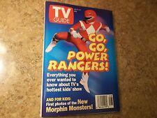 1994 TV Guide Go, Go, Power Rangers N. Alabama Edition Like New