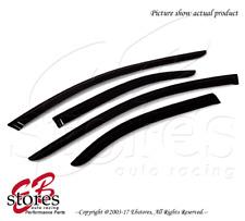 For Acura TSX 2009-2014 Outside-Mounted Dark Smoke JDM Window Visors 4pcs