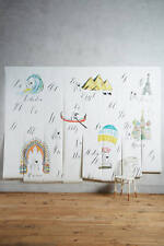 NEW Anthropologie Alphabet Atlas Wall Mural Nursery ABC Linea Carta Mural