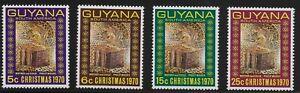 Guyana Scott #118-21, Singles 1970 Complete Set FVF MNH