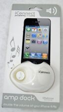 iCONNECT AMP DOCK IPHONE 4/4s WHITE Double your volume, NEW