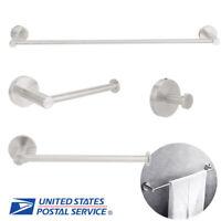 4Pcs/Set Stainless Steel Hardware Bathroom Accessory Set Towel Holder Robe Hook