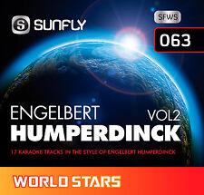 ENGELBERT HUMPERDINCK VOL 2 SUNFLY KARAOKE CD+G