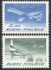 Finland 1963 Planes/Civil Aviation/Aircraft/Transport/Business 2v set (n40966)