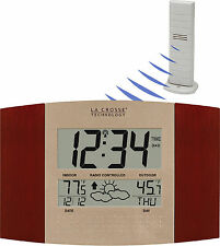 WS-8157U-CH-IT La Crosse Technology Atomic Digital Wall Clock Forecast TX37U-IT