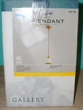 Mini Pendant Solid brass construction frosted glass shade aged brass finish