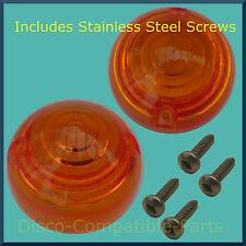 Land Rover Defender Indicator Light Lens x 2 + Stainless Steel Screws Bearmach