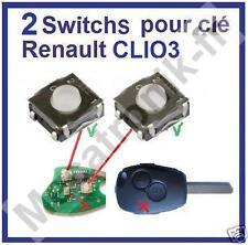 lot 2x Switch bouton de clé pour telecommande RENAULT Clio 3 Dacia Duster Logan