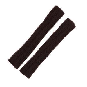 Women Long Sleeve Fingerless Gloves Winter Warm Stretchy Knit Mittens Arm Warmer