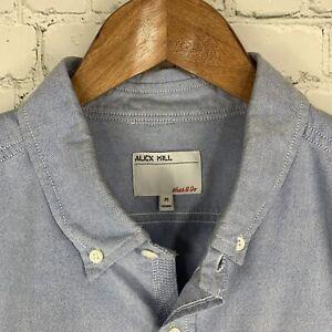 Men's Alex Mill (Medium) Sky Blue Oxford Button Front Long Sleeve Shirt