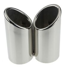 Pair Car Exhaust Muffler Outlet Tip Pipe For VW Jetta 6 MK6 Golf MK7 2.0TDI 2.5