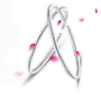 925 Sterling Silver Plated LADY Fashion LOVE pattern Bracelet bangle gift