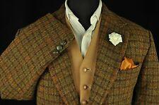 "Vtg Harris Tweed Houndstooth Country Tailored Hacking Jacket 48"" #200 PRISTINE"