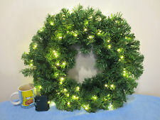 Light up Hanging door pine wreath Topiary Christmas Display Garden display