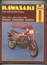 Kawasaki 400 500 550 Fours (1979-1984) Haynes Repair Manual GPZ GT Z KZ ZR CX17
