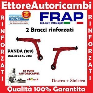 2 BRACCI OSCILLANTI INFERIORI FRAP FIAT PANDA (169) 2003>2012 TRAPEZI RINFORZATI