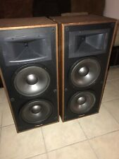 klipsch KG 4.2 Oak Oil Speakers. Vintage 1 Tested Good And 1 Need Speakers. Read
