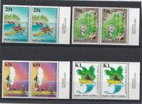PNG339) Papua New Guinea 1998 Sea Kayaking horiz pairs MUH