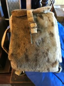 antique seal skin bag--native-- newfoundland-- innu-- inuit
