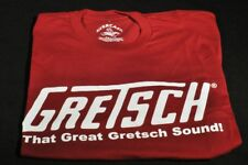 "GRETSCH ""THAT GREAT GRETSCH SOUND"" TEE SHIRT MEDIUM RED"