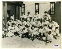 Ted Lyons Psa Dna Coa Hand Signed 8x10 Original 1930`s Photo Autograph