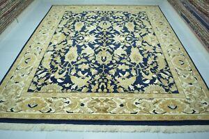 Antique Rug 8x9.7,Handmade Area Rug, Turkish Rug, Large Floral Rug, Oversize Rug