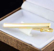 Delicate Metal Gold Plated Tone Simple Necktie Tie Pin Bar Clasp Clip 4r0