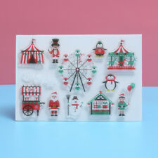 Transparent Stamps Scrapbooking Silicone Rubber Santa Deer Clear Sheet DIY Craft