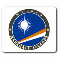 Computer Mouse Mat - Marshall Islands Majuro Flag Stamp Office Gift #5087