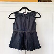 Max & Co. Black Sleeveles Cotton Top, Sz 42 / UK 10