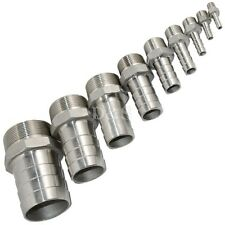 """1/2""""x19mm Stainless steel Male Plug thread Pipe fitting barb Hose Tail Connector"""