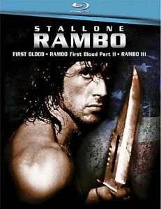 Rambo Trilogy (Blu-ray 2011, 3-Disc Set) First Blood, Rambo II & III - Region A
