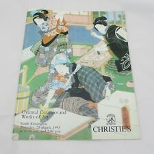 Christie's Auction Catalogue - Oriental Ceramics and Works of Art 1993