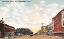 Independence KS Wonderland Moving Pictures Theatre~Bldg w/Bay Windows 1911 PC