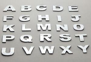 26 Pieces A-Z Car Auto 3D Chrome Letters Emblem, Badge Sticker TOP Quality