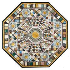 "52"" Semi Precious Stones Inlay Handmade Work Marble Center Table Top"